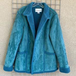 Teal Blue Warm Fuzzy Winter Jacket